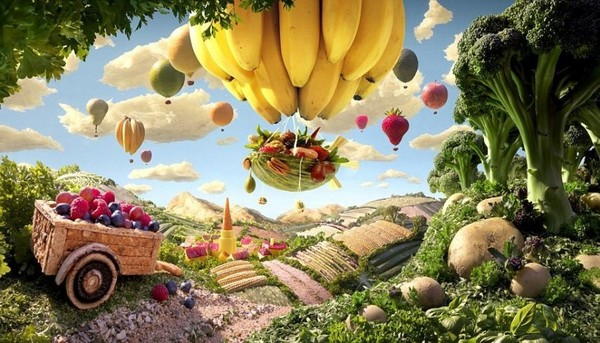 Paysages culinaires   ...   de Carl Warner !