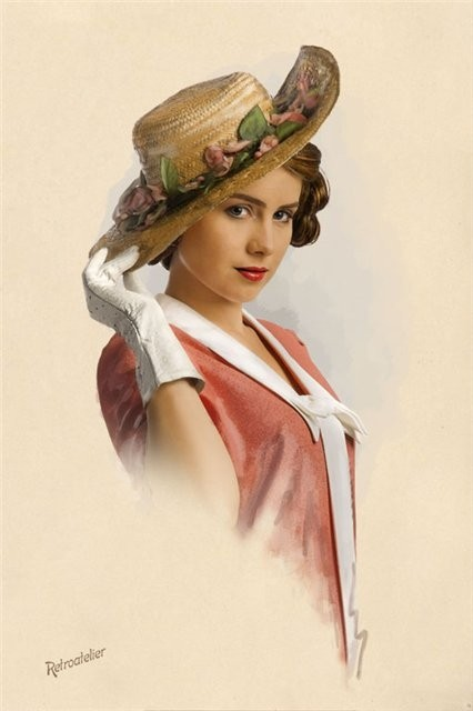 Poème du net ...  La Femme au Chapeau !