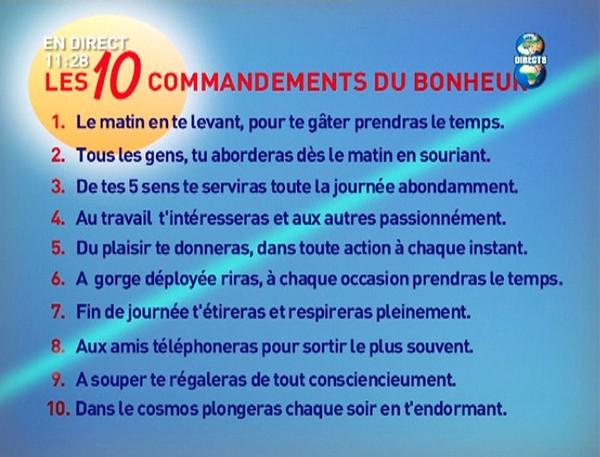 Les Dix Commandements Du Bonheur