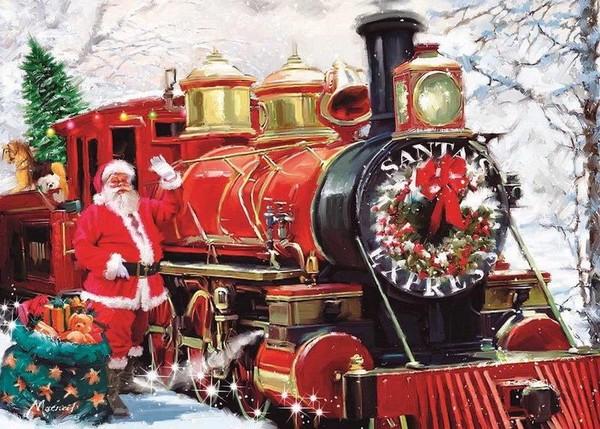 train du pere noel Pour vous les p'tits Bouts  le train du Père Noël ! train du pere noel