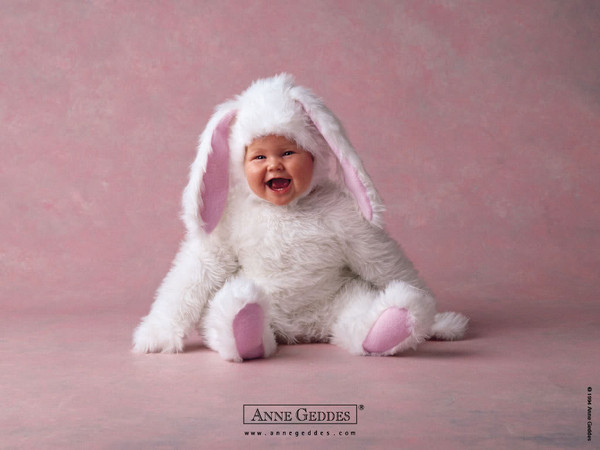 Pâques    ...   chez Anne Geddes  !