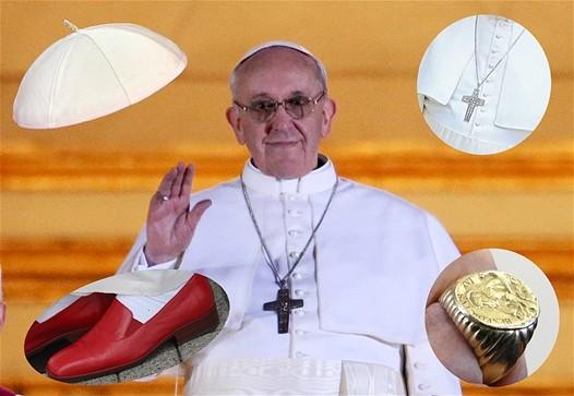 hot-vente authentique couleur attrayante enfant Une petite visite au Vatican ... les accessoires du Pape !