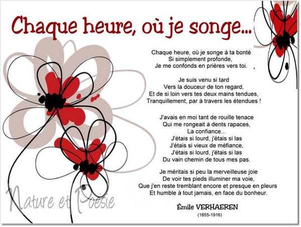 Bien connu Une jolie citation  signée Emile Verhaeren ! XV46