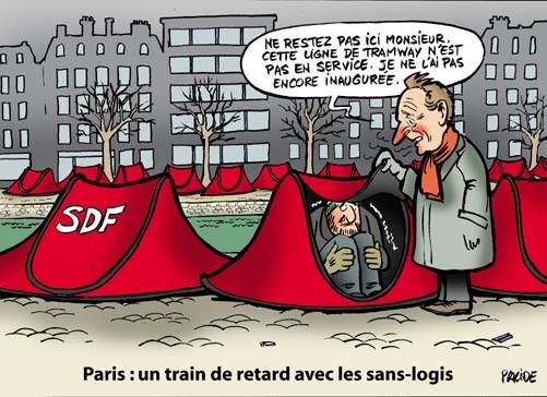 Les S.D.F.    ...   de plus en plus nombreux en France !