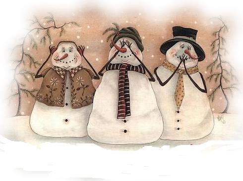 Si vous le pouvez, faites des bonhommes de neige !