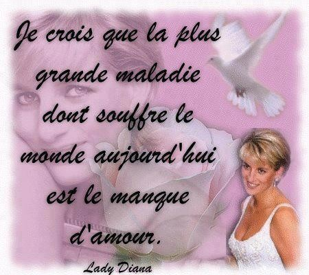 Citation  si vraie   ...   signée Lady Diana !