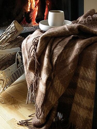 Il fait froid   ...    couvertures et café chaud pour vous !