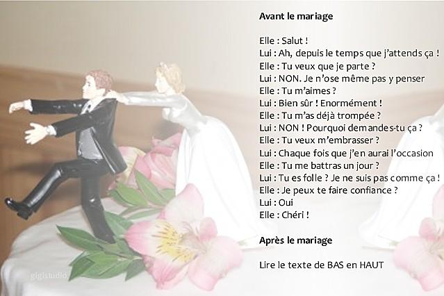 Humour sp cial mariage avant et apr s - Compte a rebours mariage ...