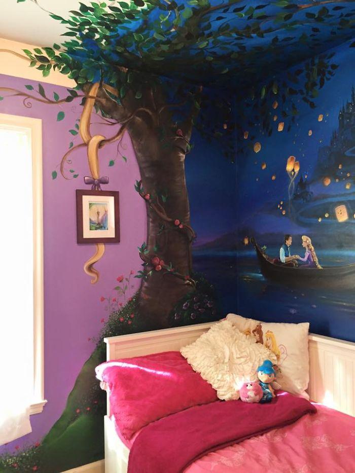 Peinture Murale Pour La Chambre D Une Petite Fille